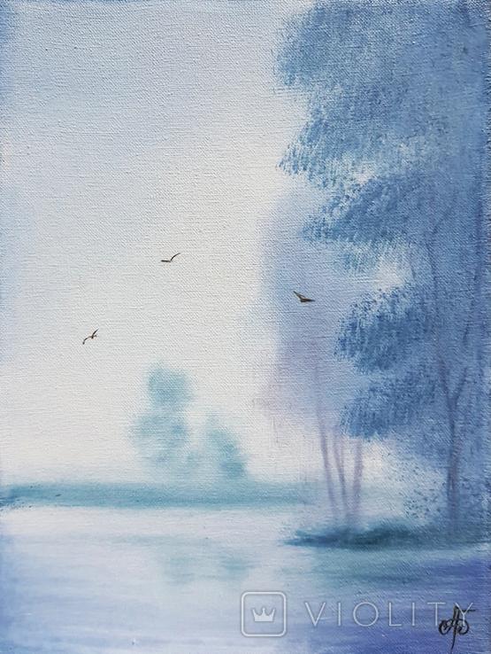 Картина, Добрий ранок, 15х20 см. Живопис на полотні, фото №2
