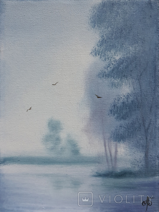 Картина, Добрий ранок, 15х20 см. Живопис на полотні, фото №3