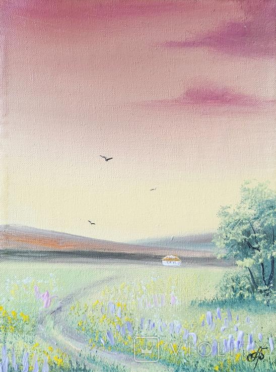 Картина, Дорога до дому, 15х20 см. Живопис на полотні, фото №2