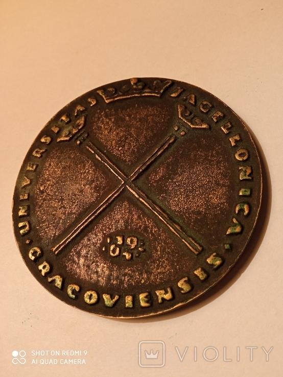 Медаль-плакетка: 600 років Ягелонському університету, фото №2