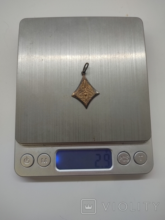 Кулон серебро 875 времён СССР, фото №9