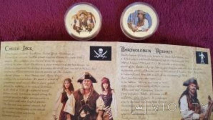Набор монет Пираты Карибских морей, 4 х 1oz, фото №8