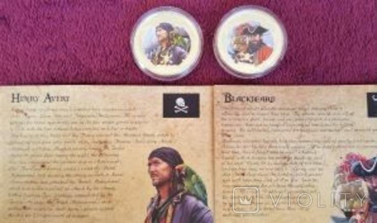 Набор монет Пираты Карибских морей, 4 х 1oz, фото №9