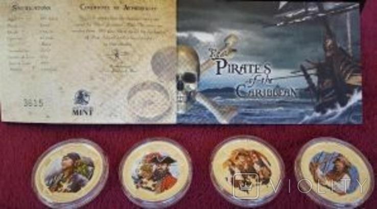 Набор монет Пираты Карибских морей, 4 х 1oz, фото №10