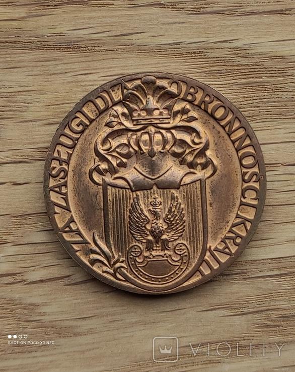 Медаль за заслуги.без ушка, наверное настольная., фото №2