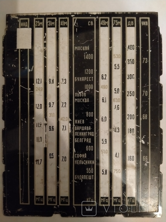 Шкала радиоприемника Меридиан-202, фото №2