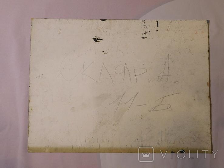 Дом профсоюза. Худ. Скляр А. Картон, масло. Размер 32,5х43,5 см., фото №7