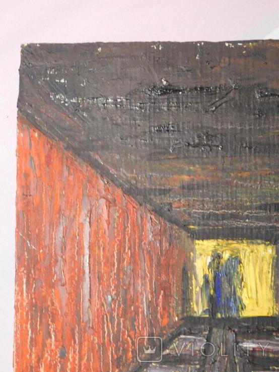 Тунель. Худ. Скляр А. Картон, масло. Размер 30х40 см., фото №3