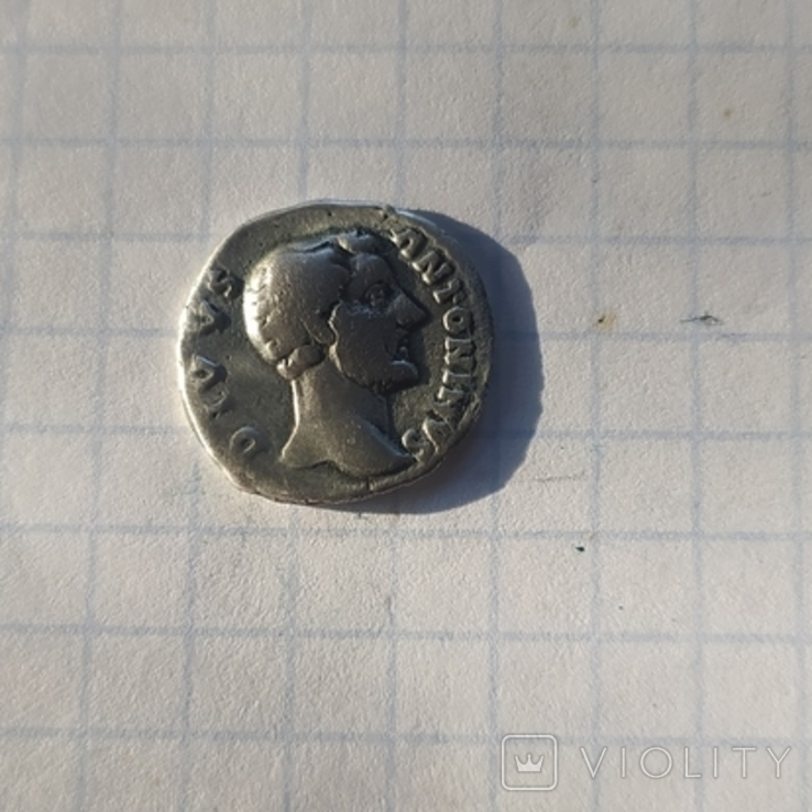 Антонин Пий серебро копия, фото №2
