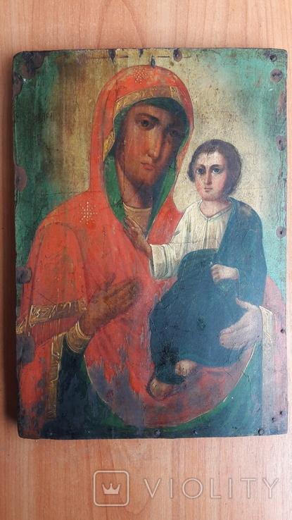Икона Божьей Матери с Иисусом.( дерево) 1., фото №2