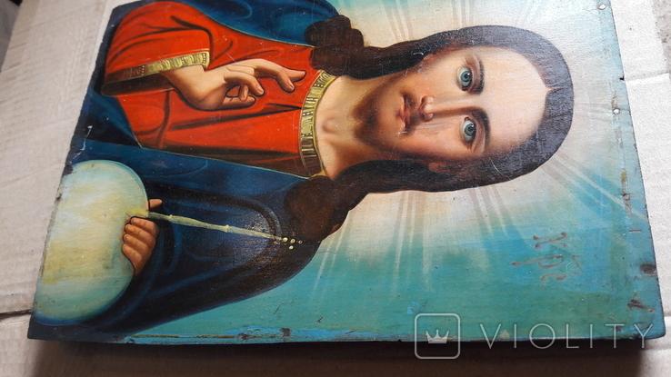Икона Иисус Христос. ( дерево), фото №11