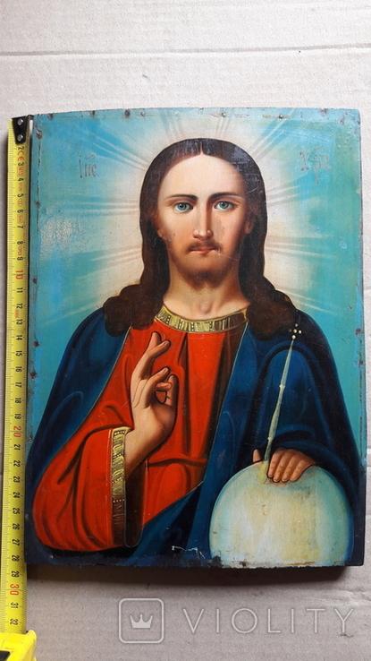 Икона Иисус Христос. ( дерево), фото №13