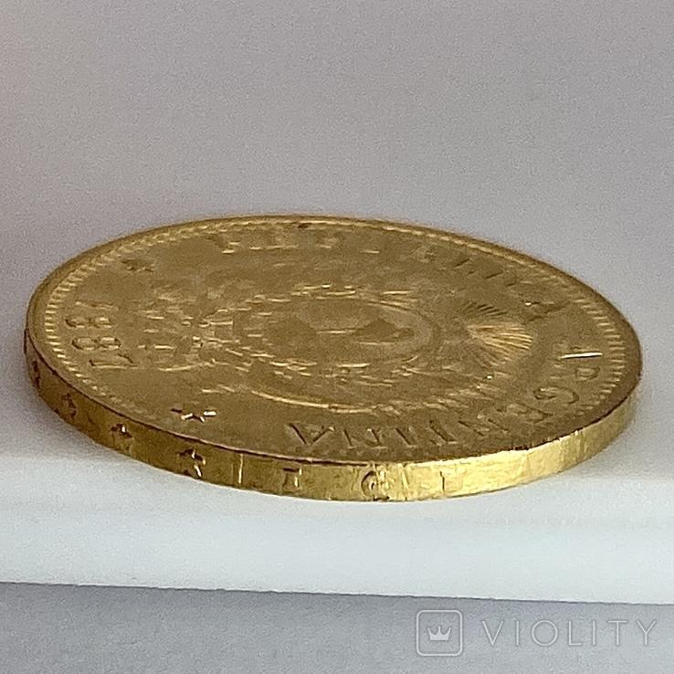 5 песо. 1887. Аргентина (золото 900, вес 8,06 г), фото №6