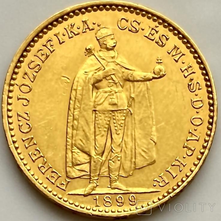 20 крон. 1899. Австро-Венгрия (золото 900, вес 6,77 г), фото №13