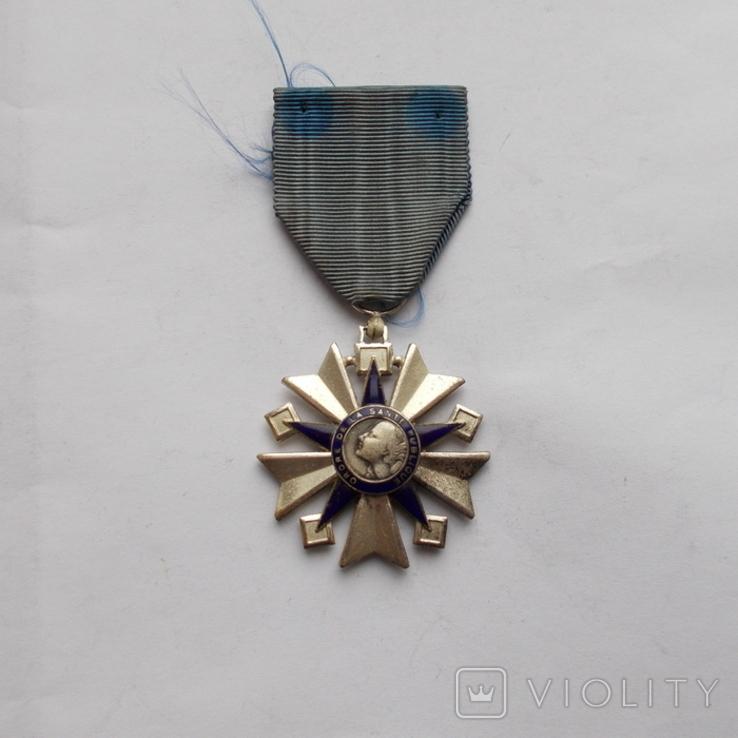 Франция. Орден здравоохранения 1938-1963 г.г. 3 класс., фото №2