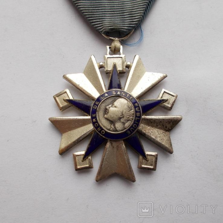 Франция. Орден здравоохранения 1938-1963 г.г. 3 класс., фото №3