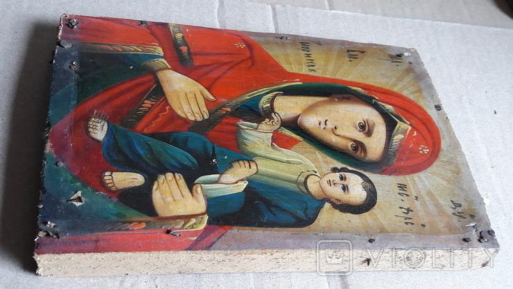 Икона Божьей Матери с Иисусом.( дерево) 3, фото №9