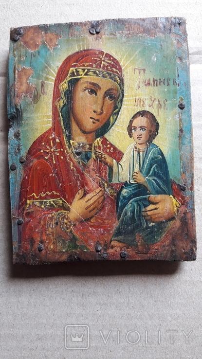 Икона Божьей Матери с Иисусом.( дерево) 4., фото №2