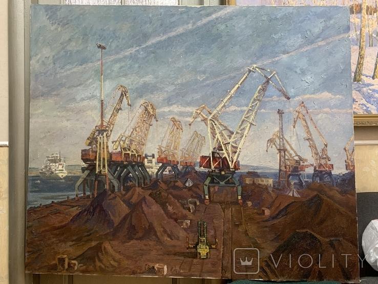 Выставочная работа Первый район Ильичевского порта Народный художник УССР, фото №2