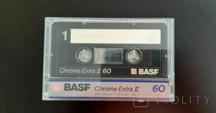 Касета BASF Chrome Extra II 60 (Release year: 1988), фото №2