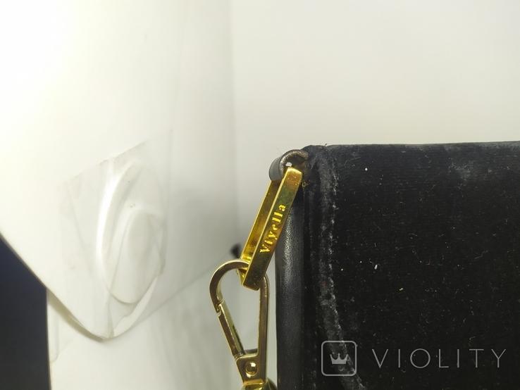 Бархатная сумочка Viytella. Клатч. Италия. 15х15см, фото №5