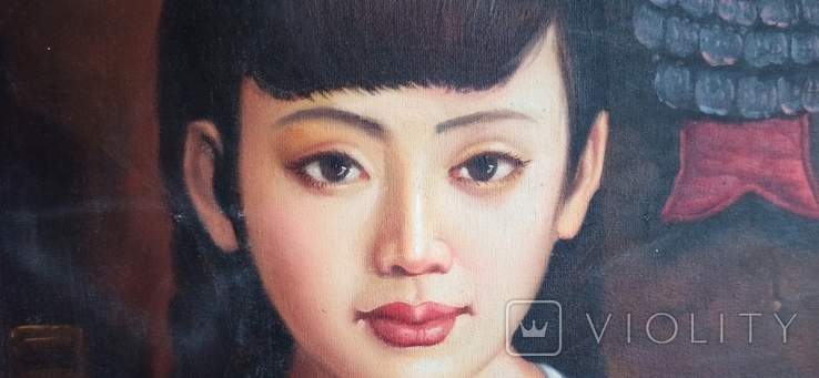 Юная китаянка. 90*60 см., фото №3