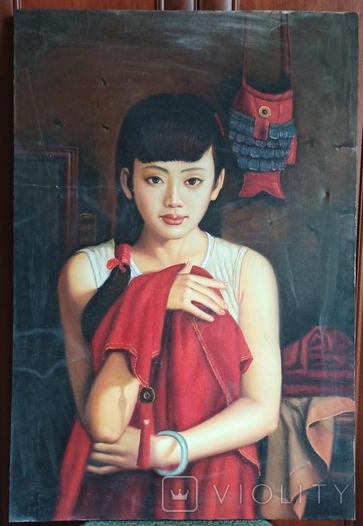Юная китаянка. 90*60 см., фото №13