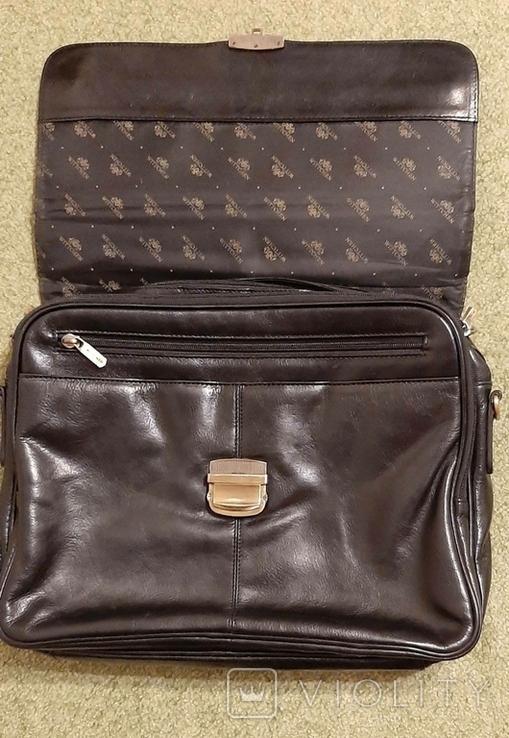Фирменный портфель, сумка Wittchen, кожа, фото №4