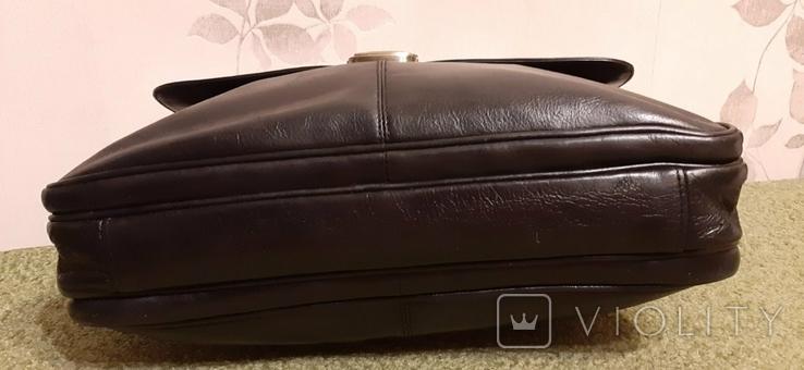 Фирменный портфель, сумка Wittchen, кожа, фото №6