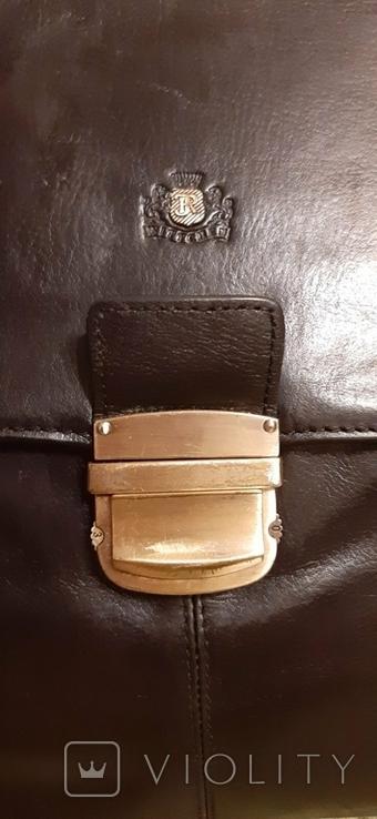 Фирменный портфель, сумка Wittchen, кожа, фото №7