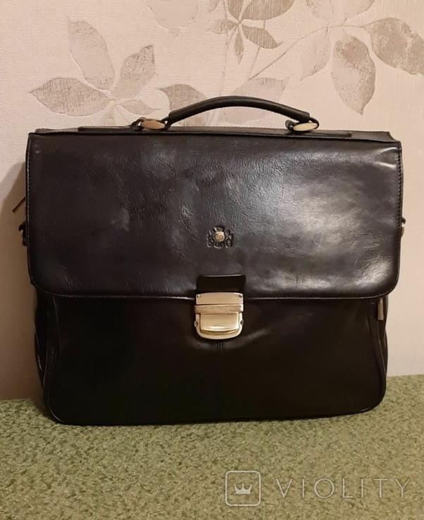 Фирменный портфель, сумка Wittchen, кожа, фото №2