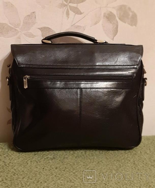 Фирменный портфель, сумка Wittchen, кожа, фото №9