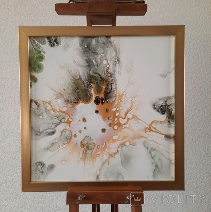 Картина живопис абстракція Fluid Art #54 acrylic, фото №4