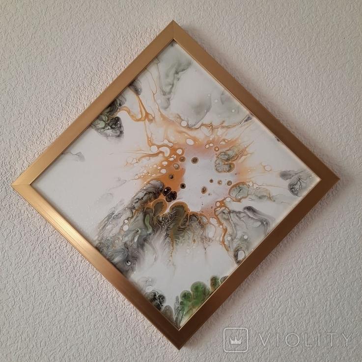 Картина живопис абстракція Fluid Art #54 acrylic, фото №6