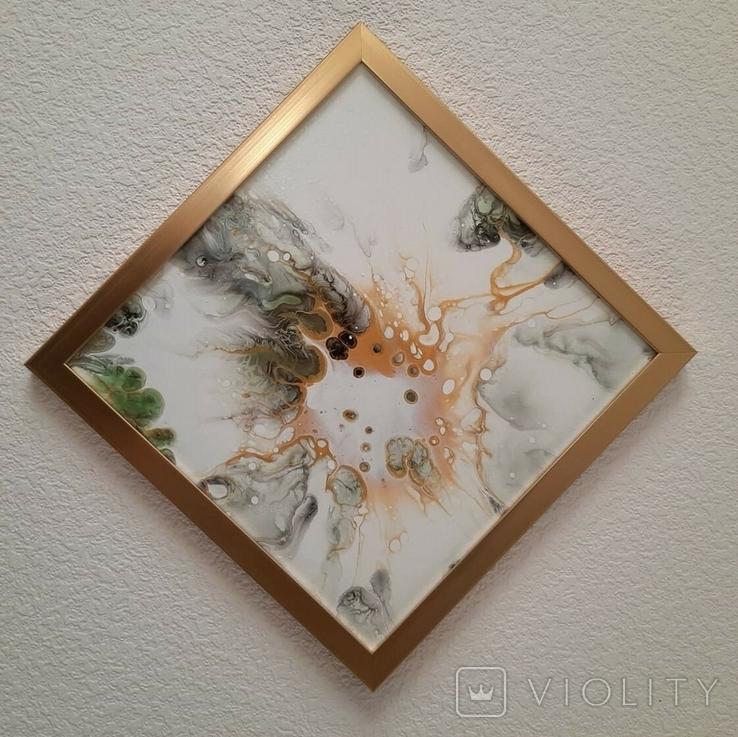 Картина живопис абстракція Fluid Art #54 acrylic, фото №7