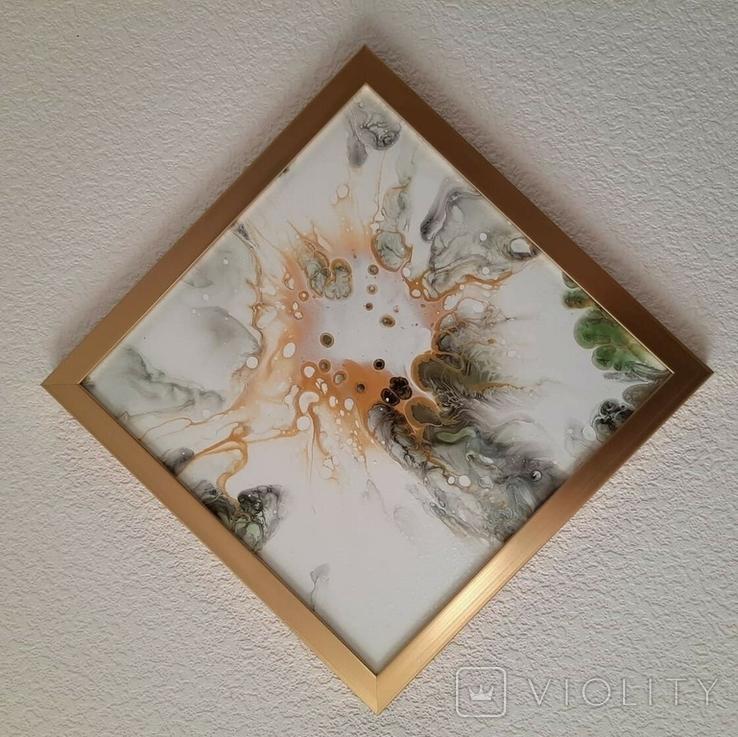 Картина живопис абстракція Fluid Art #54 acrylic, фото №9