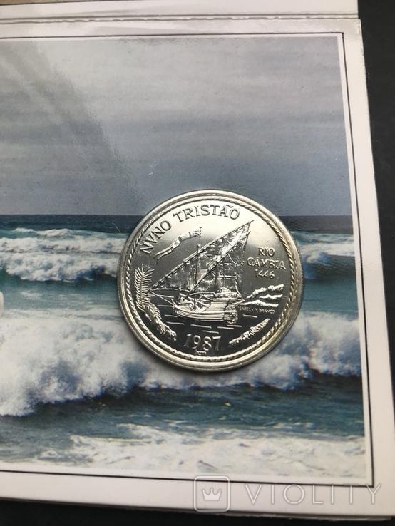 100 эскудо 1987 Португалия серебро Золотой век открытий - Нуну Триштан, фото №2