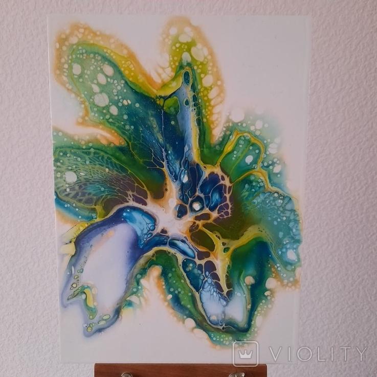 Картина/ живопис/ абстракція Fluid Art #59 acrylic, фото №3
