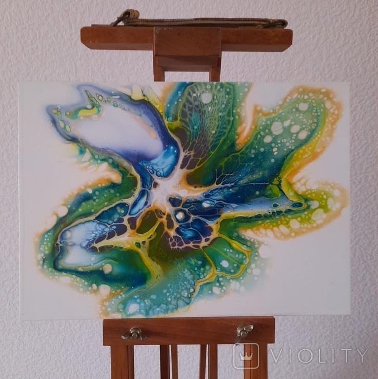 Картина/ живопис/ абстракція Fluid Art #59 acrylic, фото №4
