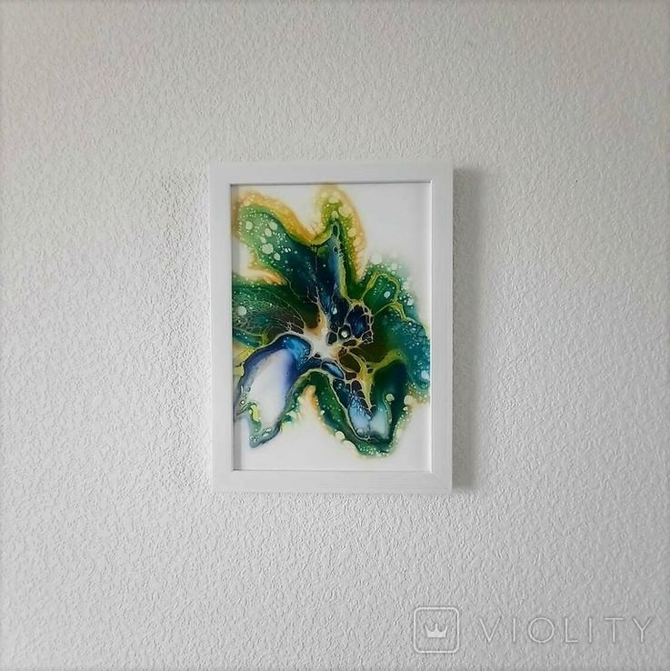 Картина/ живопис/ абстракція Fluid Art #59 acrylic, фото №9