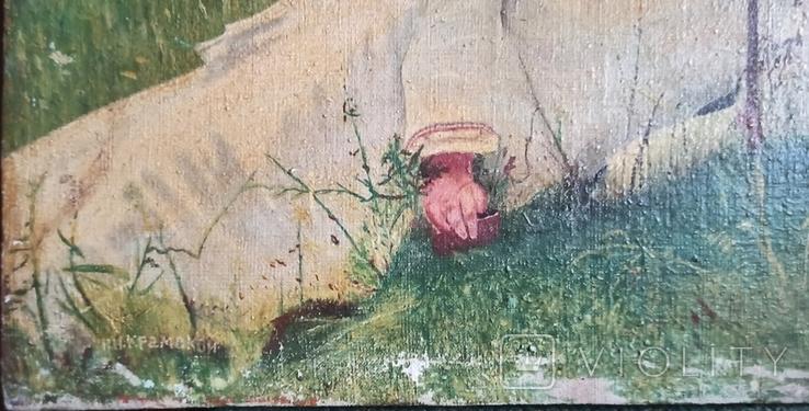 Женщина под зонтиком. Копия. 56*42 см., фото №5
