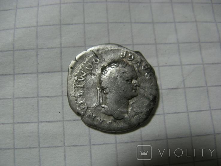 Денарий имп. Домициан Волчица, фото №2