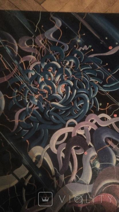 Плетение или пряжа абстракция, фото №2