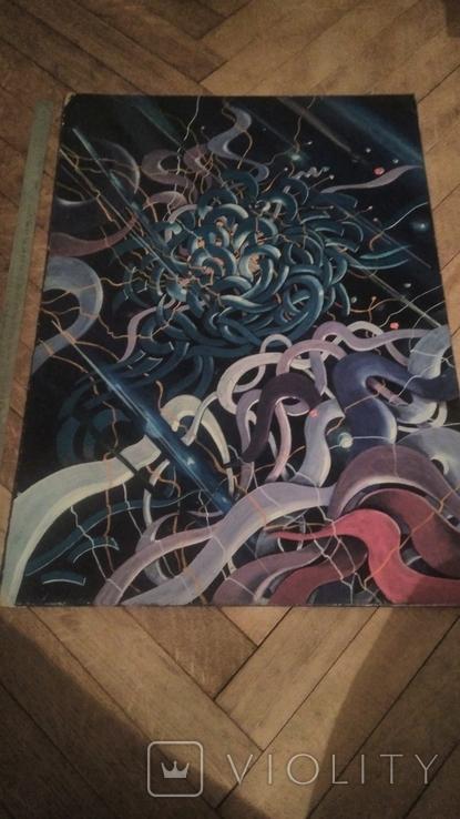 Плетение или пряжа абстракция, фото №4