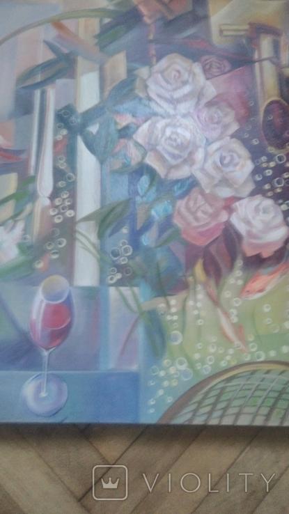 Розы абстракция, фото №3