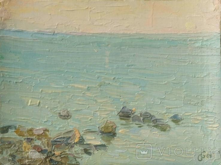 Море. Ранок. Олійний етюд, фото №2