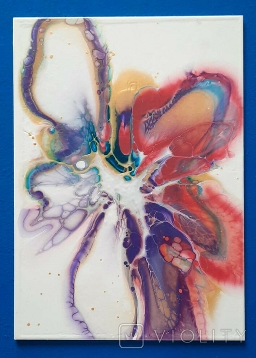 Картина/ живопис/ абстракція Fluid Art #61 acrylic, фото №2