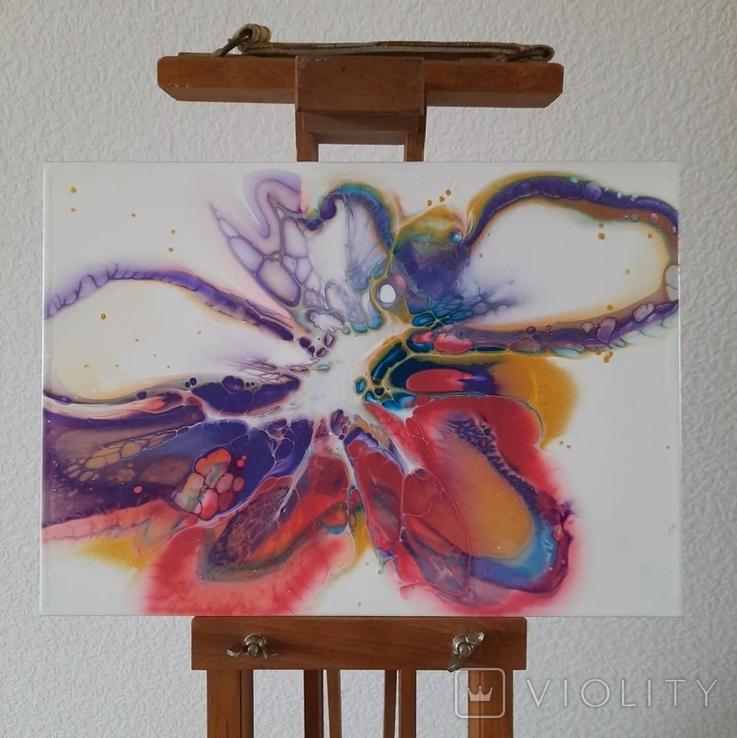 Картина/ живопис/ абстракція Fluid Art #61 acrylic, фото №4