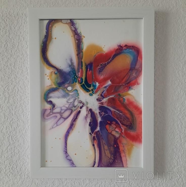 Картина/ живопис/ абстракція Fluid Art #61 acrylic, фото №8