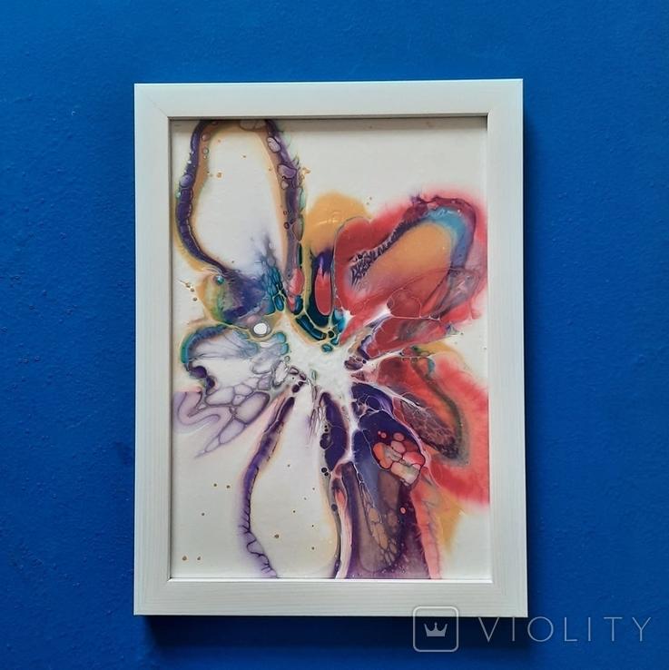 Картина/ живопис/ абстракція Fluid Art #61 acrylic, фото №11